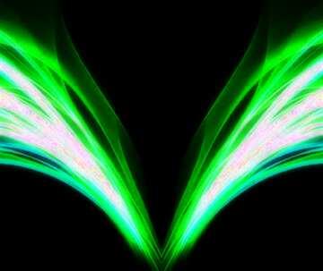 L'effetto della luce. I colori molto vivaci. Frammento. Sagoma.