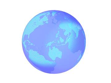 Modern global world earth concept planet symbol dark blue transparent background
