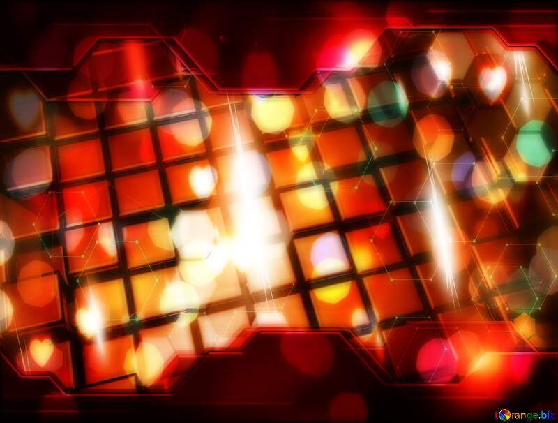 3d abstract red metal cube boxes background Information Technology business concept Hi-tech Elements №54501
