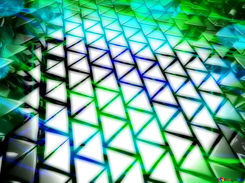 3D abstract geometric volumetric triangle metal background Banner colorful №54502