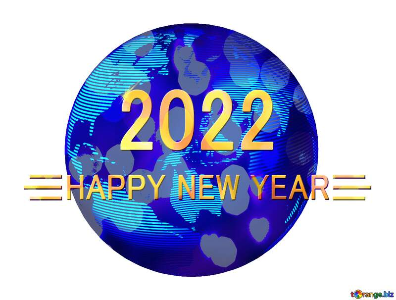 Modern global world earth concept planet symbol Shiny happy new year 2021 background №54514
