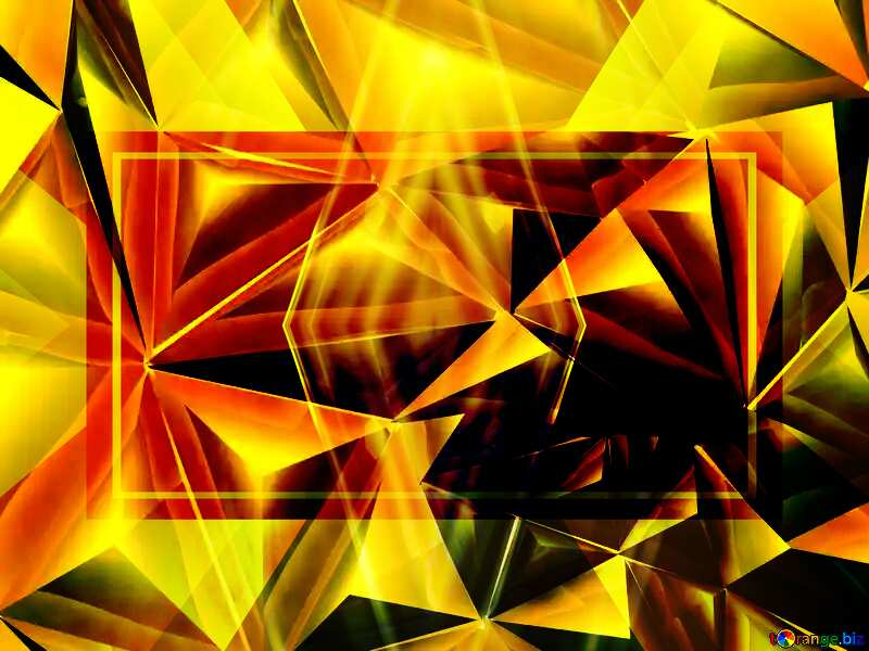 Polygon gold background responsive design business №51586