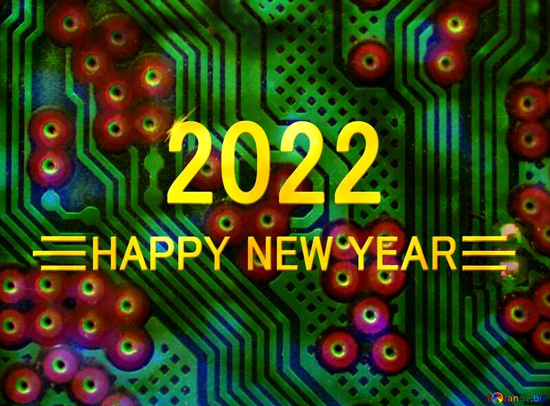 circuit electronic board lines pattern happy new year 2021 computer background №51568