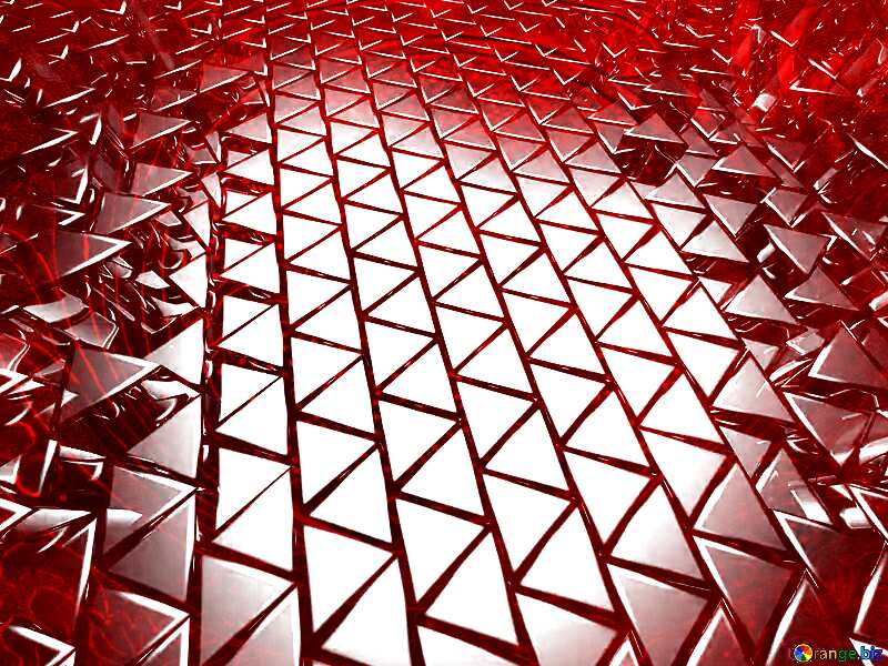 3D abstract geometric volumetric triangle metal background Red steel №54502