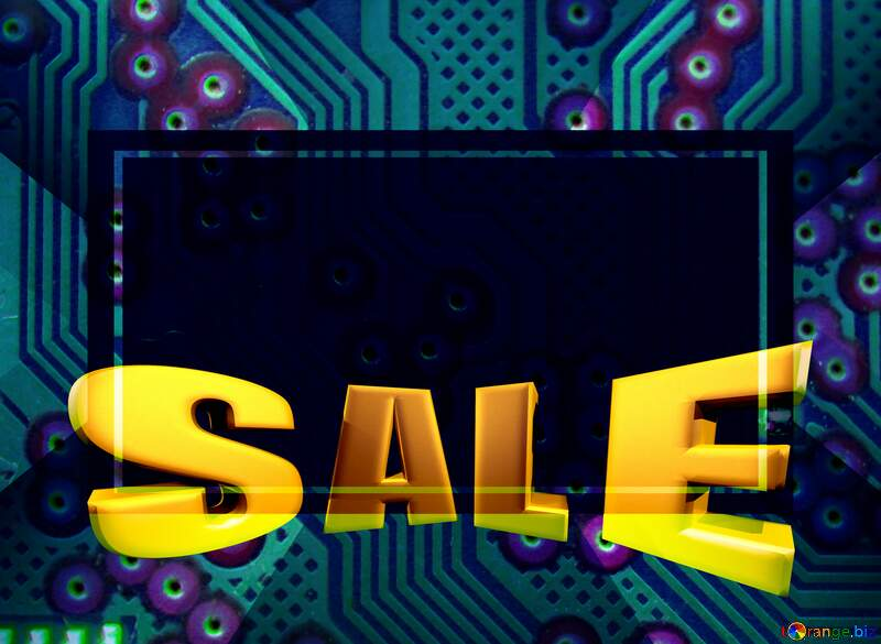 computer micro chip Sales discount promotion template №51568