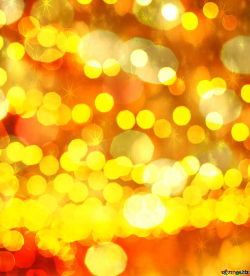 Christmas city street lights Golden Christmas twinkling stars bokeh background №53517