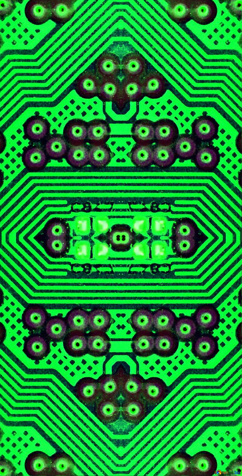 circuit electronic board lines pattern №51568