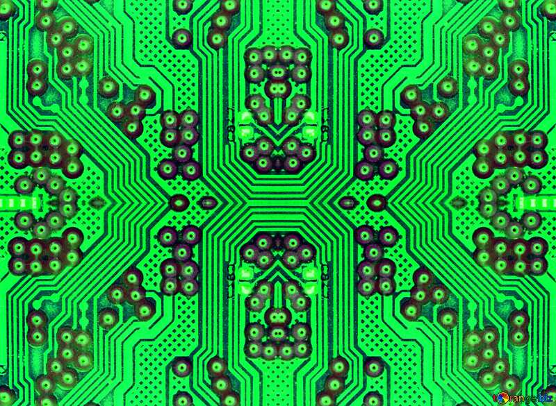 circuit electronic board pattern green chip micro №51568
