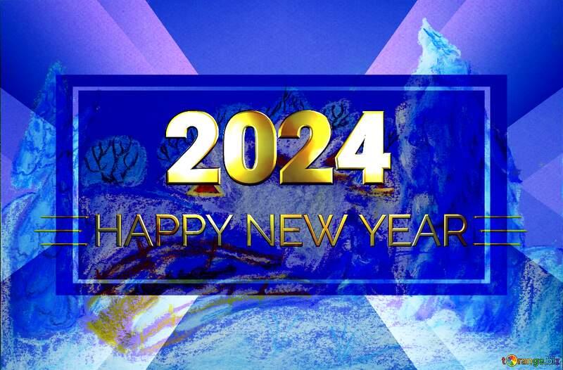 Snowy paint  landscape Shiny happy new year 2021 №49239