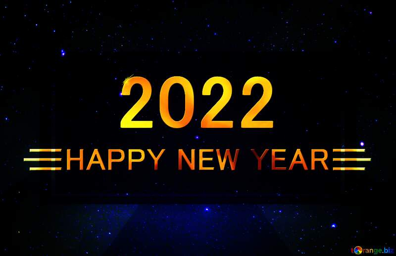 Starry sky Shiny happy new year 2021 background №44731