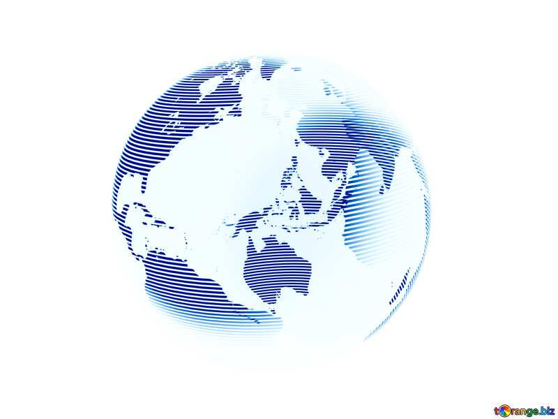 White blue Modern global world earth concept planet symbol №54515