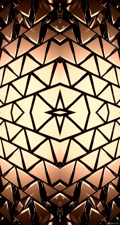 3D abstract geometric volumetric triangle metal background Dark Clipart Ornament Pattern №54502