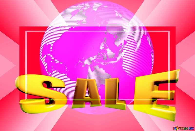 Modern global world earth concept planet symbol 3d Blurred Frame Design Promotion Sale Sales Template №54515