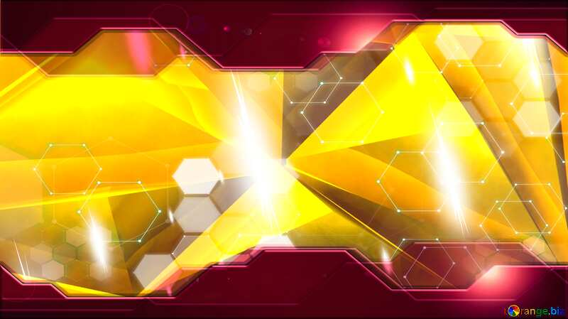 Polygon gold background Red Information Technology business concept Hi-tech №51586