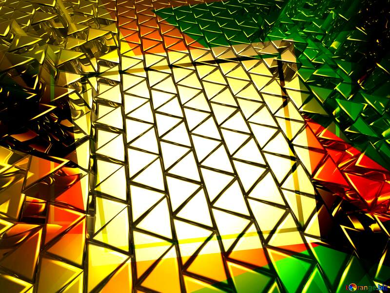 3D abstract geometric volumetric triangle gold metal background Creative Frame Future Geometrical Template Trend №54502