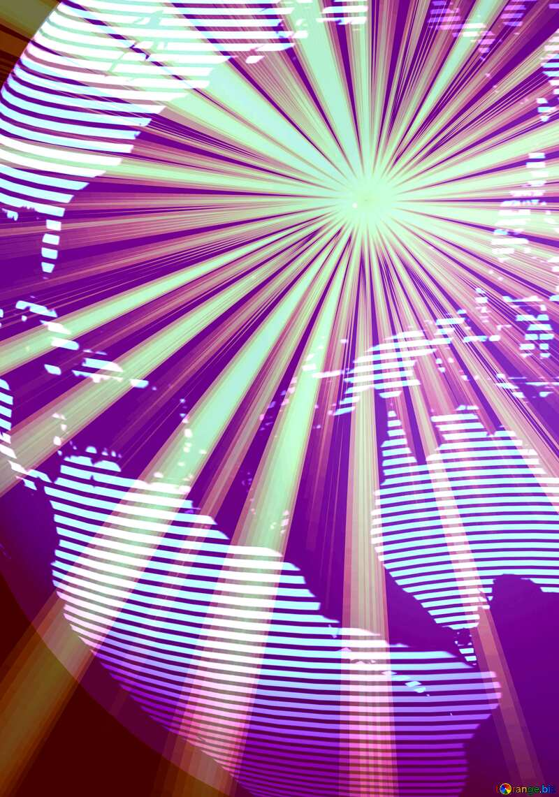 Modern global world earth concept planet symbol Art Futuristic Rays Sunlight Background №54515
