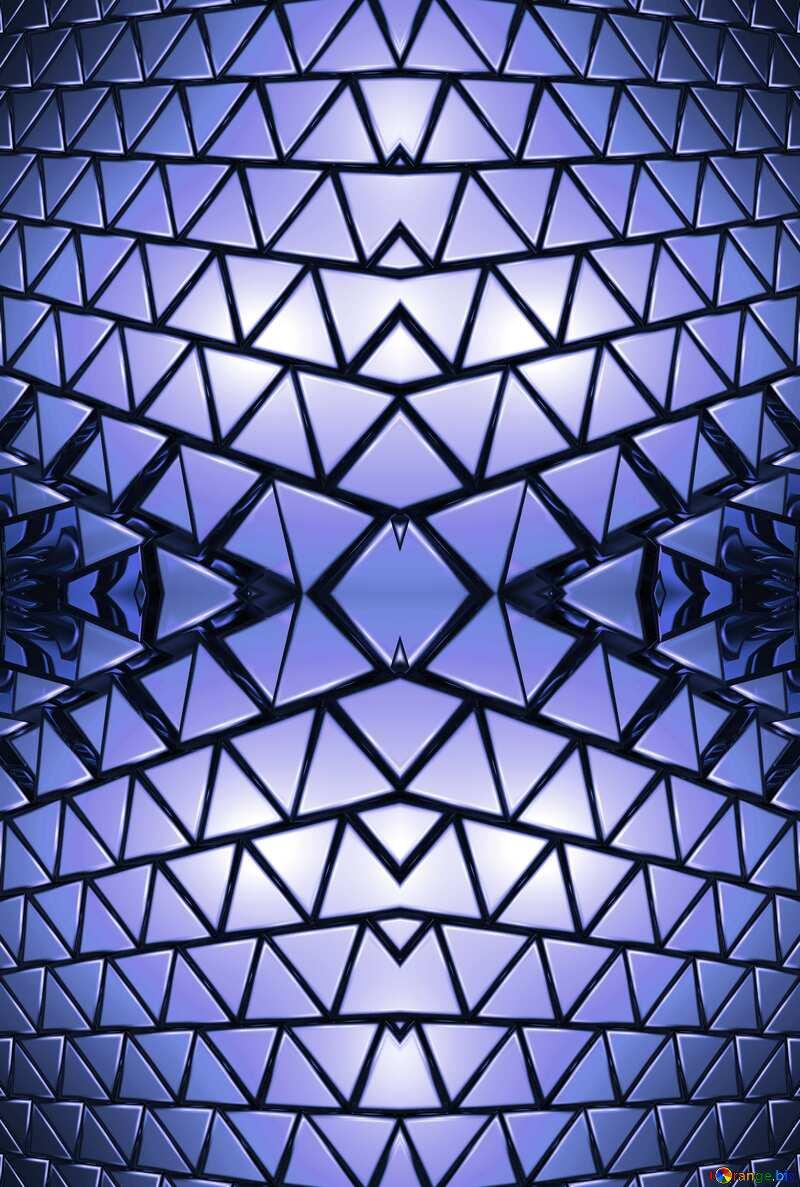 3D abstract geometric volumetric triangle gold metal background Blue Illustration Geometric Generated Futuristic Fractal Symmetric Rendering Pattern №54502