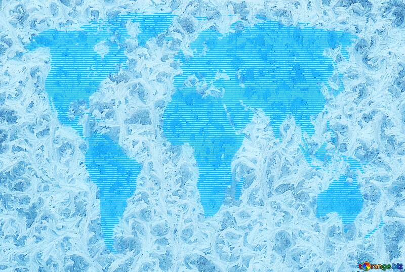 World map frozen blurred  background global concept №4065
