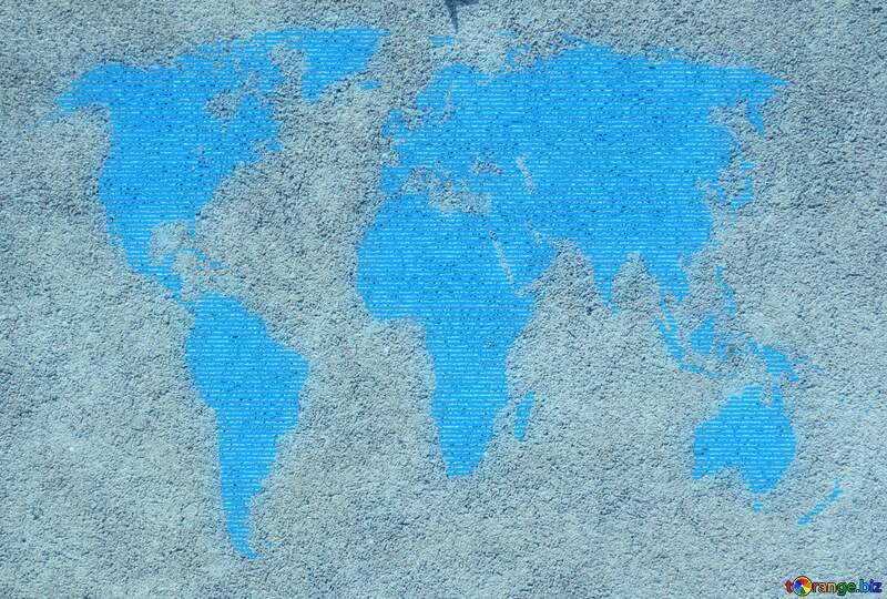 Sand texture World map concept global network line №50497