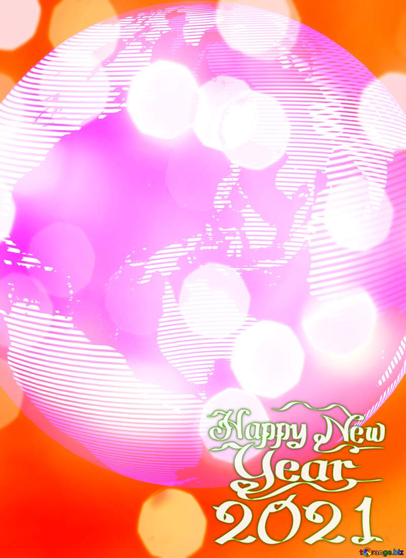 Modern global world earth concept planet symbol Abstract Bokeh Happy New Year 2021 Background №54515