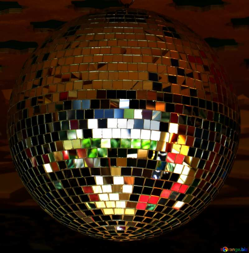 Disco ball lamp dark №53395