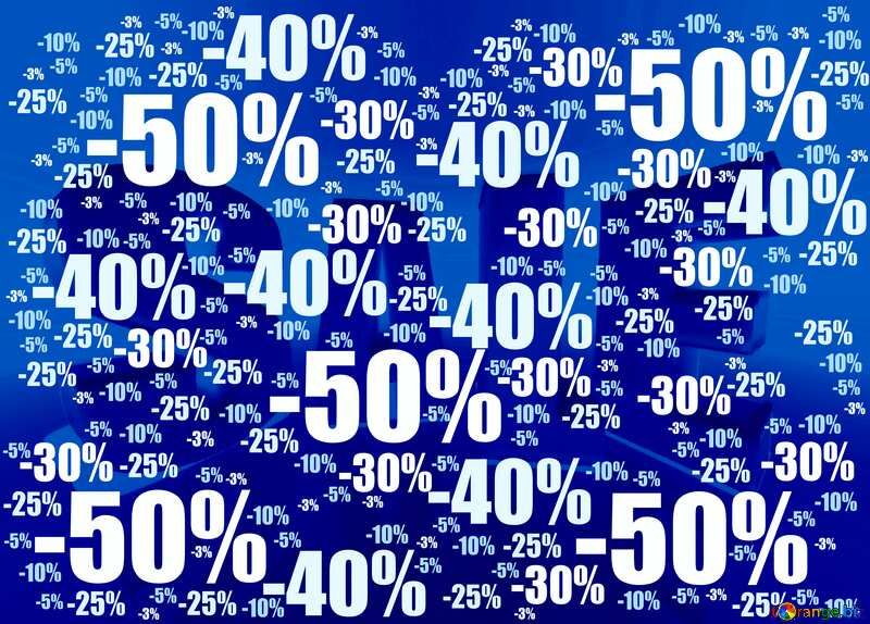 Store discount background blue white №51545