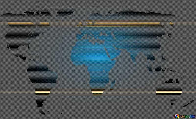 World map blue background concept global network  line composition  global business carbon gold frame image №54504