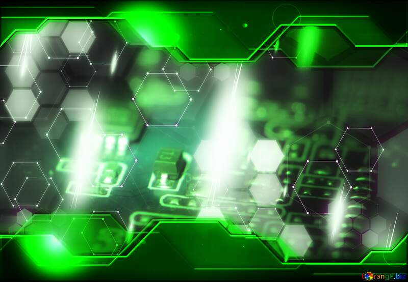 Electronic components Information Technology Green business Hi-tech concept №40845