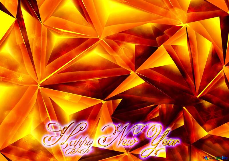 Polygon gold Happy New Year 3d №51586