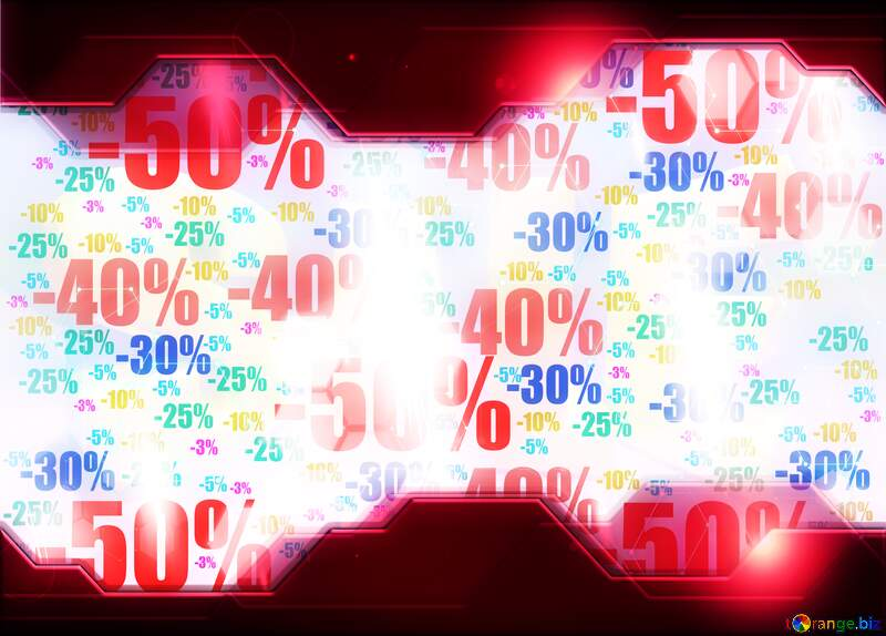 Store discount background. Red Technology business concept Hi-tech №51545