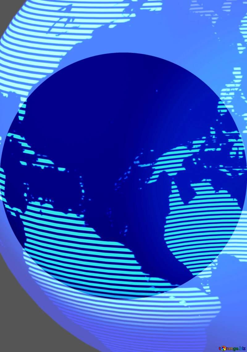 Modern global world earth concept planet symbol 3d Concept Infographic Presentation Template Shape №54515