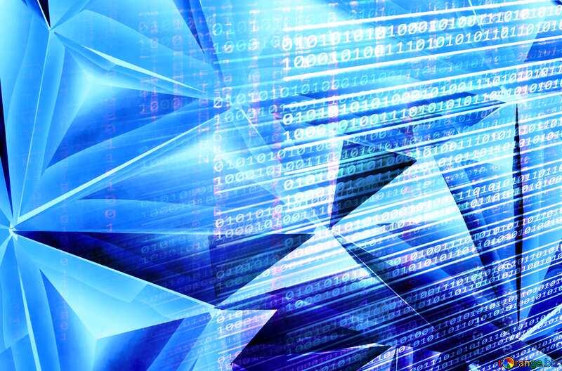 Polygon blue metal internet media background №51586