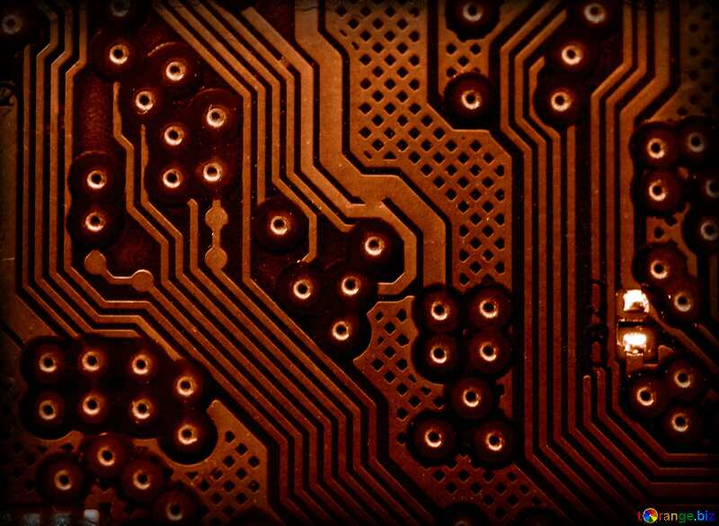 circuit electronic board lines pattern micro chip red №51568