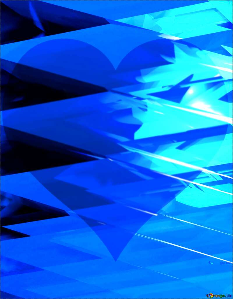 Blue futuristic shape. Computer generated abstract background. love №51524