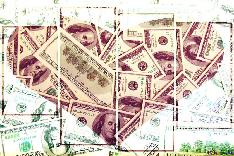 Money love  heart №1506