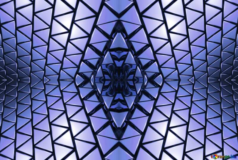 3D abstract geometric volumetric triangle gold metal background Blue Futuristic Illustration Mechanic Pattern Rendering Technology Shape №54502