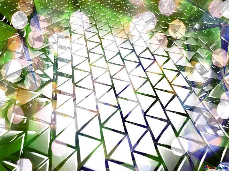 3D abstract geometric volumetric triangle gold metal background Bokeh Lights №54502