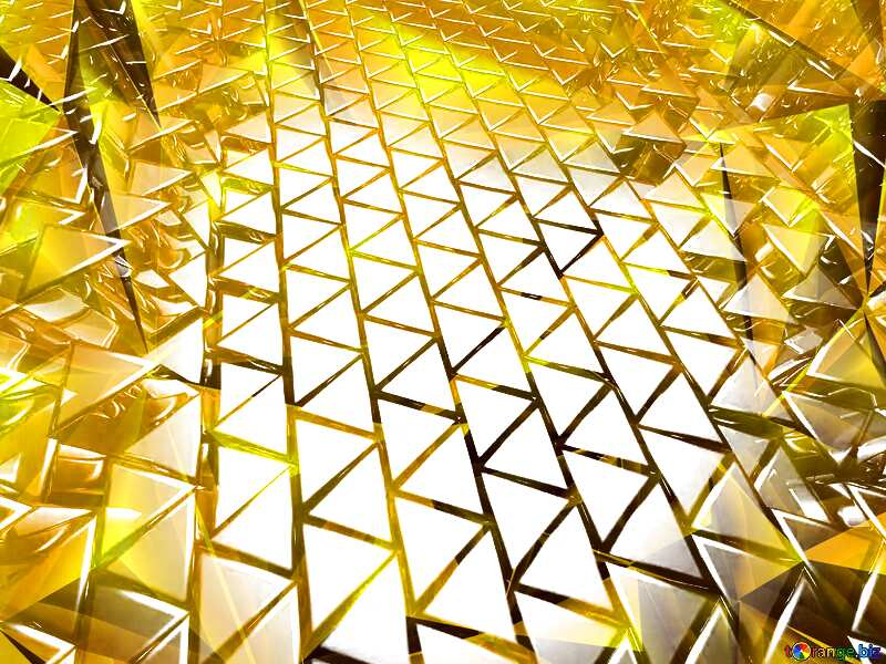 3D abstract geometric volumetric triangle gold metal background Polygonal Texture №54502