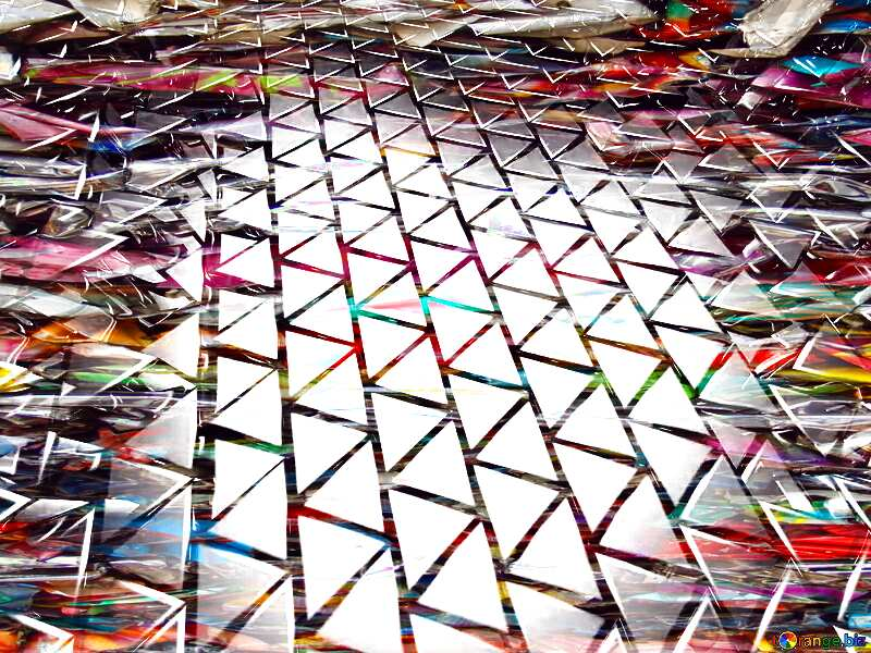3D abstract geometric volumetric triangle colors metal background Scrap №54502