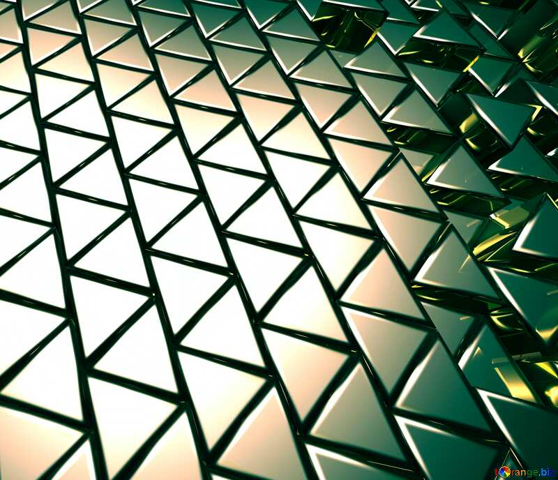 3D abstract geometric volumetric triangle metal background Toned №54502