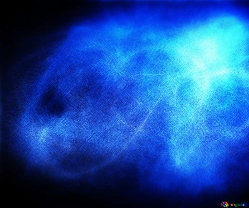 Blue fractal background №40636