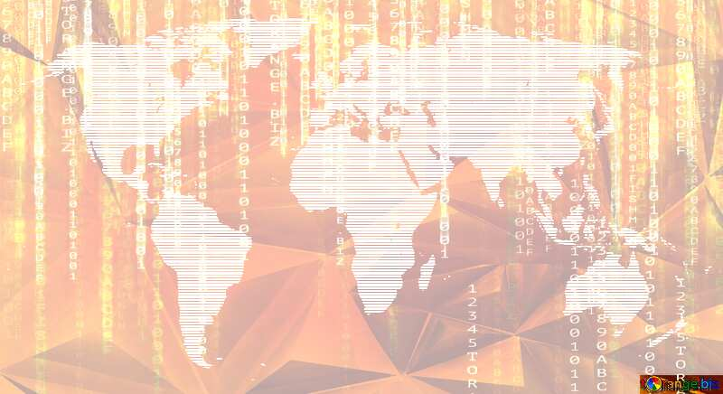 World map polygonal enterprise matrix style digital concept №54504