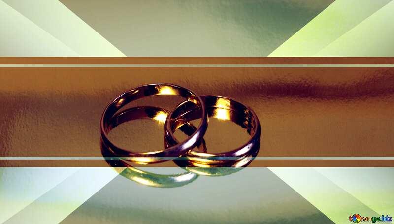 Engagement wedding gold rings illustration template №7143