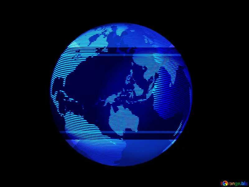 Modern global world earth concept planet symbol blue dark  frame template №54515