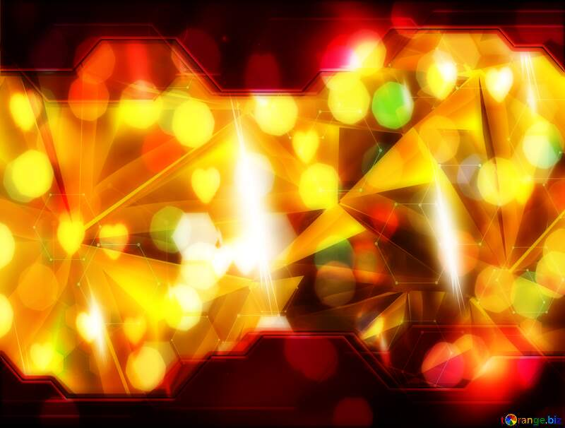 Polygon Red Information Technology business concept Hi-tech background gold №51586