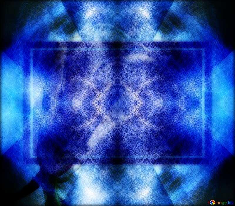 Blue fractal background design business layout pattern №40636
