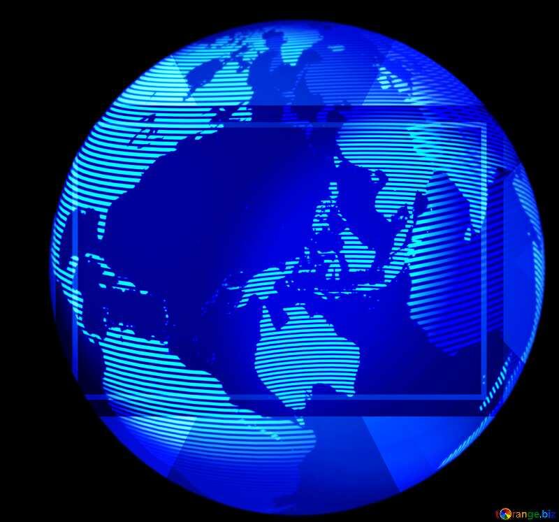 Modern global world earth concept planet symbol frame blur №54515