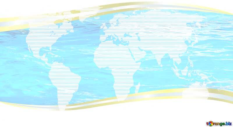 World map concept business picture waves water metal frame border №54504