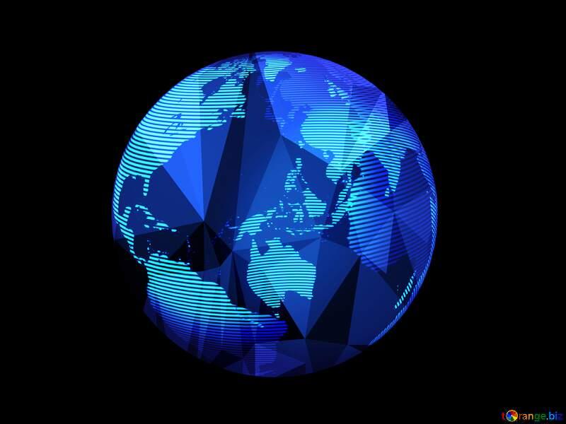 Modern global world earth concept planet symbol Polygonal №54515