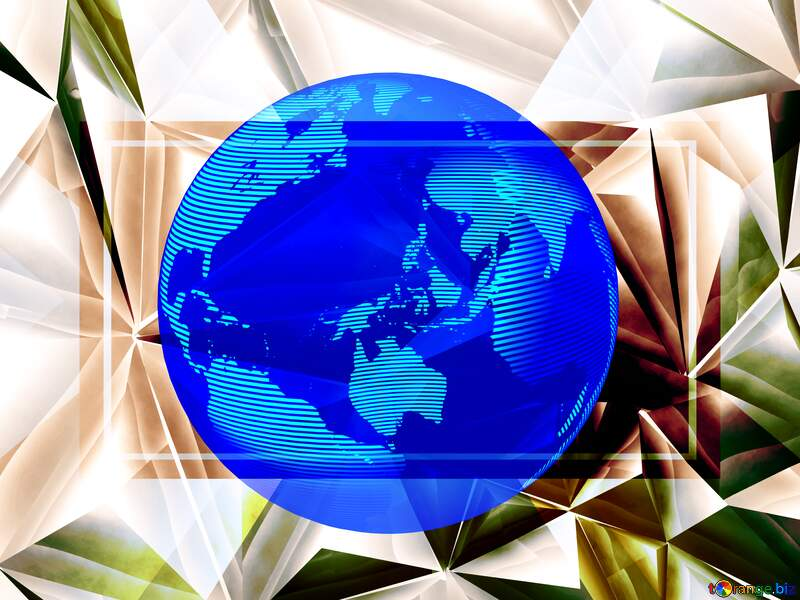 Modern global world earth concept planet symbol dark blue Polygon Responsive Sepia Business Background №51586